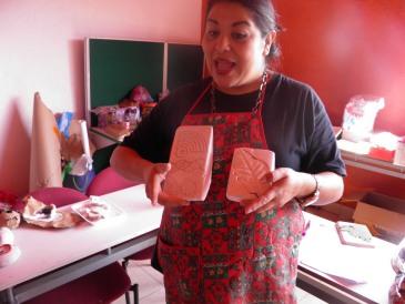 Reyna Ruelas, tallerista voluntaria