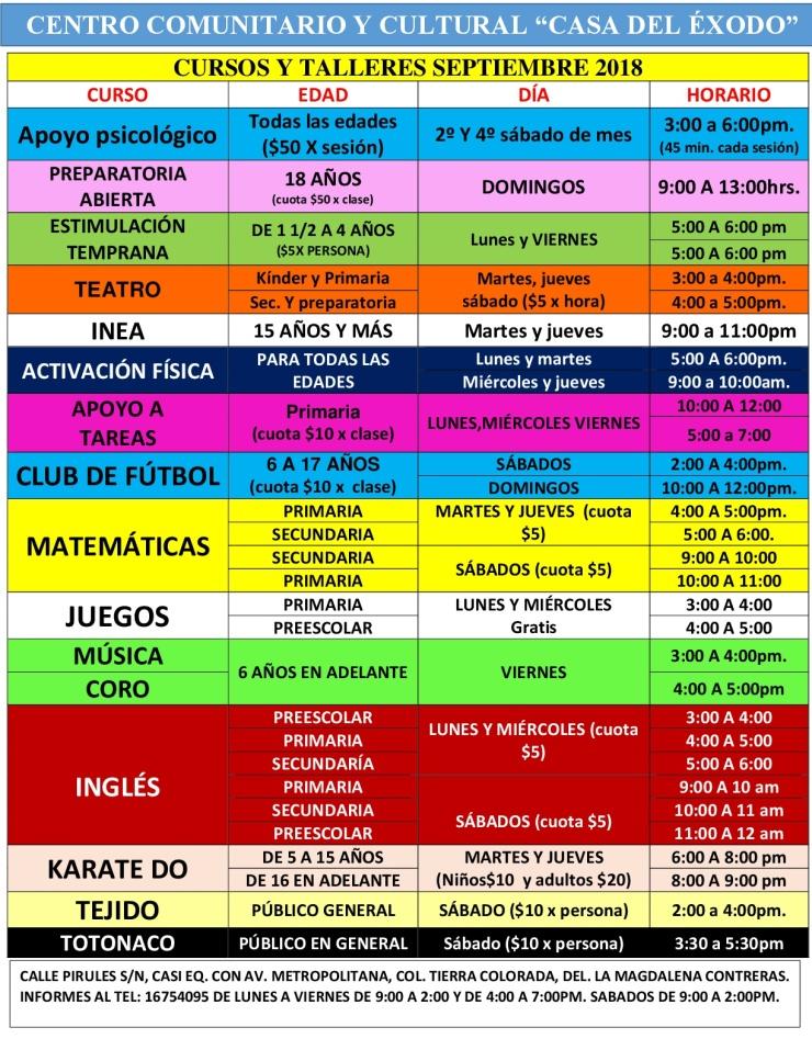 CURSOS Y TALLERES SEPTIEMBRE 2018-001
